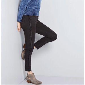 Driftwood Jackie side braid Skinny Jeans
